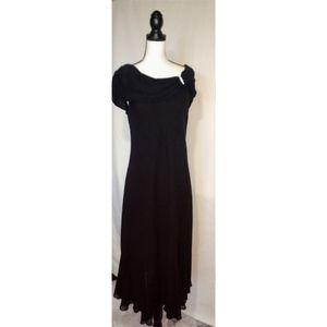 S.L. Fashions Black Formal Off Shoulder Dress